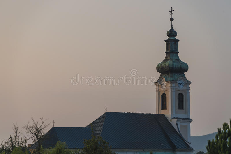 Mattina nel villaggio di Medzev vicino alla città di Kosice immagini stock libere da diritti