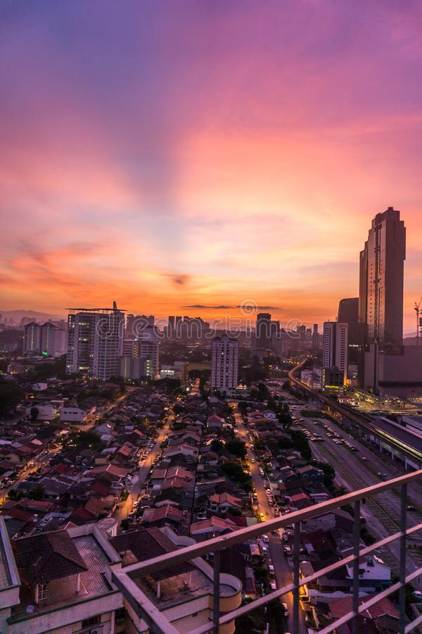 Mattina in Petaling Jaya, Selangor, Malesia fotografia stock libera da diritti