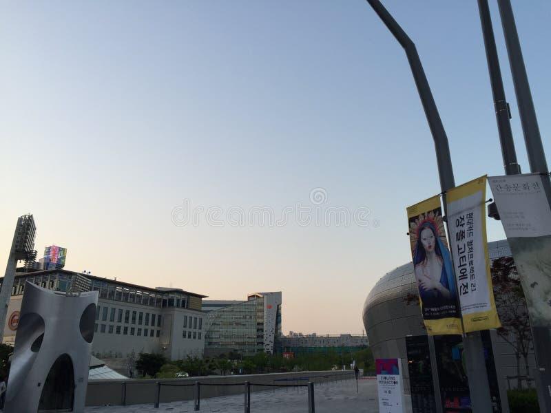 Mattina Seoul immagini stock