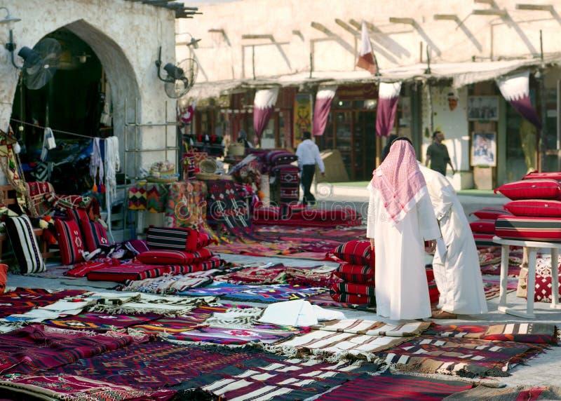 Mattina in Souq Waqif, Qatar fotografia stock libera da diritti