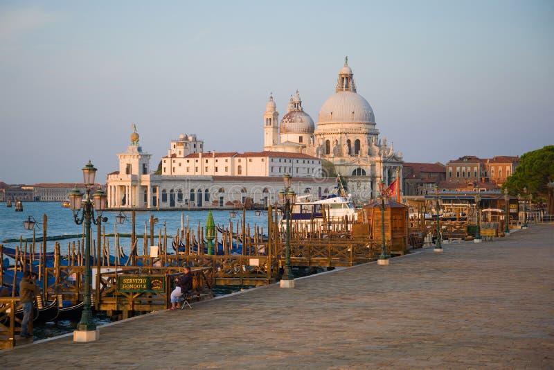 Mattina sull'argine di San Marko, Venezia fotografia stock libera da diritti