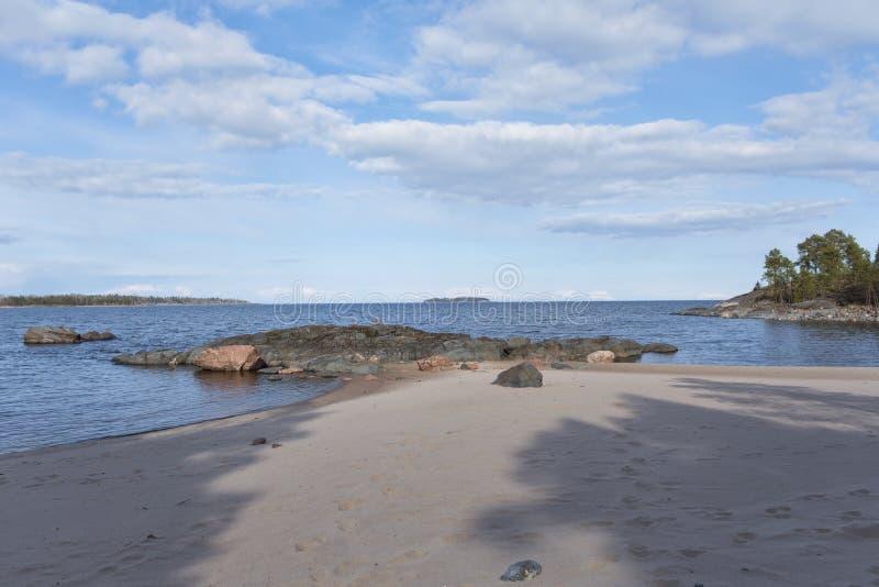 Mattina sulla spiaggia del deserto fotografia stock