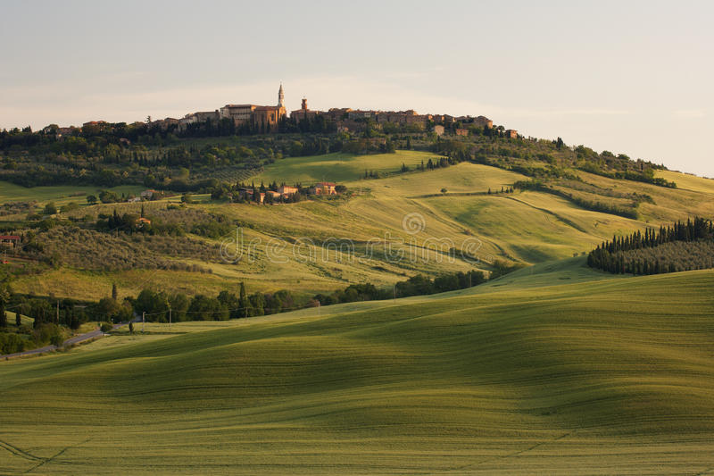 Mattina in Toscana immagine stock