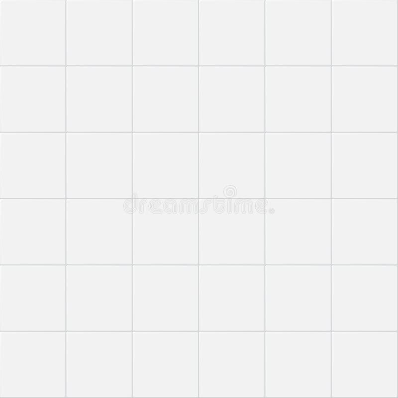 Mattonelle bianche della parete della cucina ceramica d'annata Vector il reticolo senza giunte royalty illustrazione gratis
