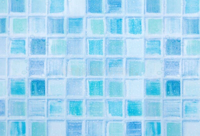 Mattonelle blu in bagno immagine stock. Immagine di particolare - 30940125