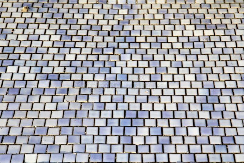 Mattonelle blu del mosaico immagine stock