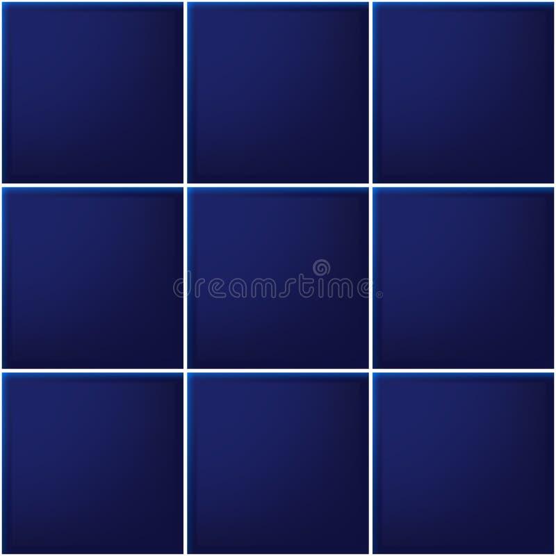 Mattonelle blu, quadrato, mosaico illustrazione vettoriale