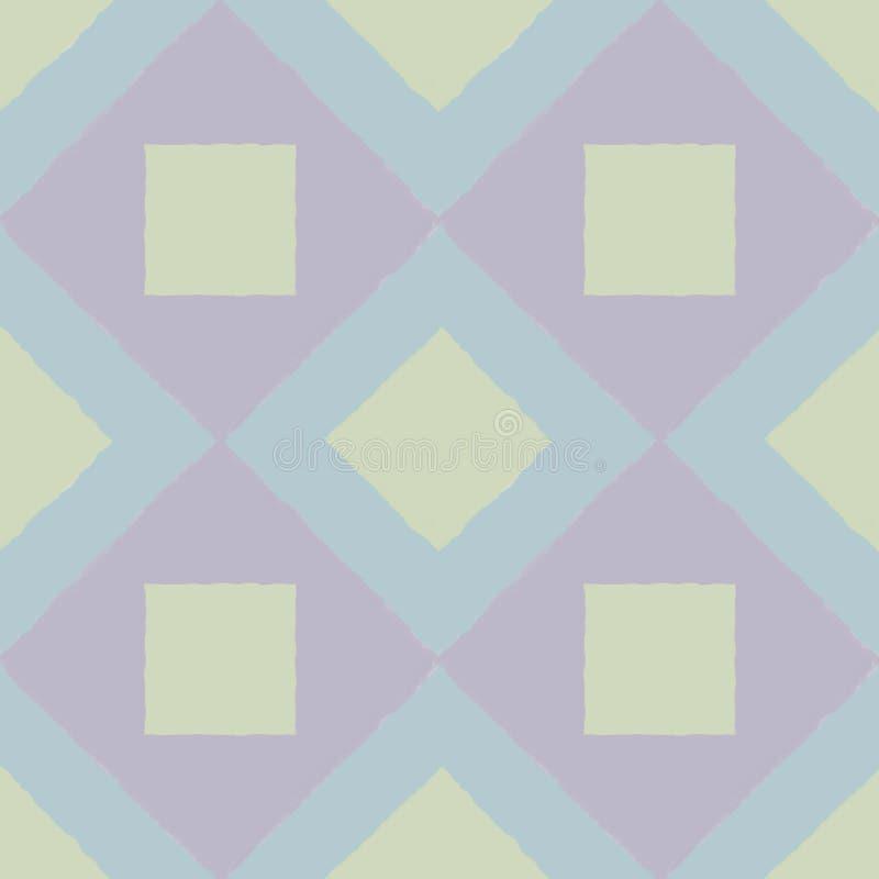 Mattonelle con i quadrati nei toni pallidi in una composizione senza cuciture immagini stock