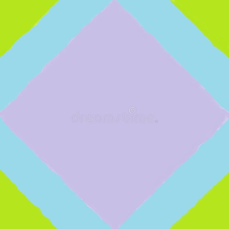 Mattonelle con un quadrato porpora immagine stock