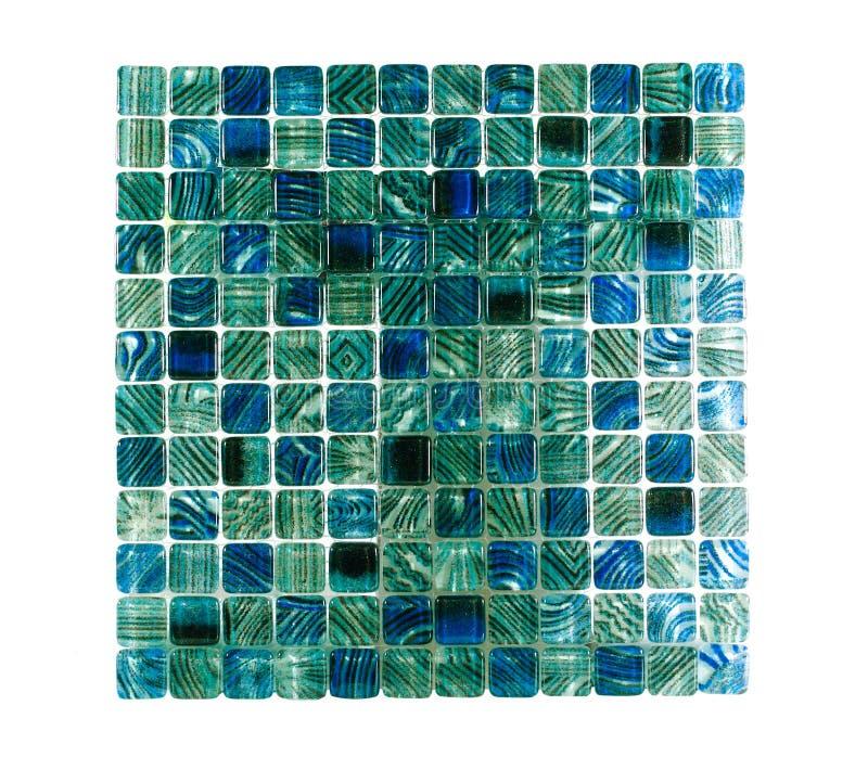 Mattonelle a cristallo blu della parete fotografia stock