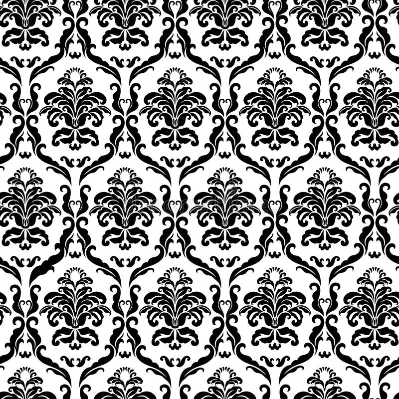 Mattonelle decorate del damasco illustrazione vettoriale