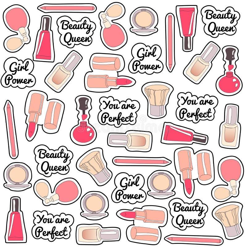 Mattonelle del modello dell'ornamento fatte dei cosmetici immagini stock