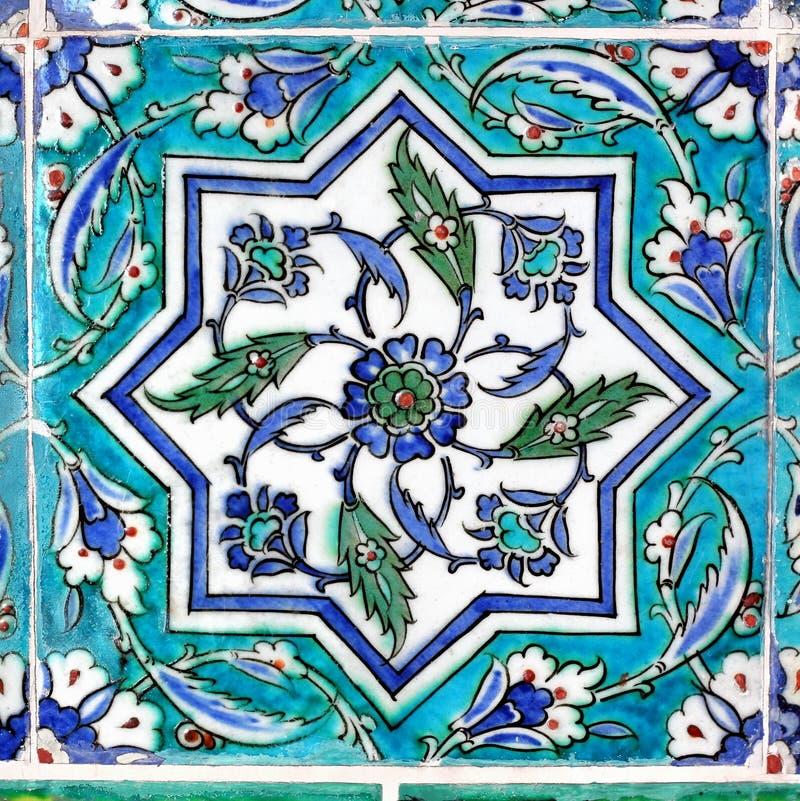 Mattonelle dell'ottomano in turchese fotografia stock libera da diritti