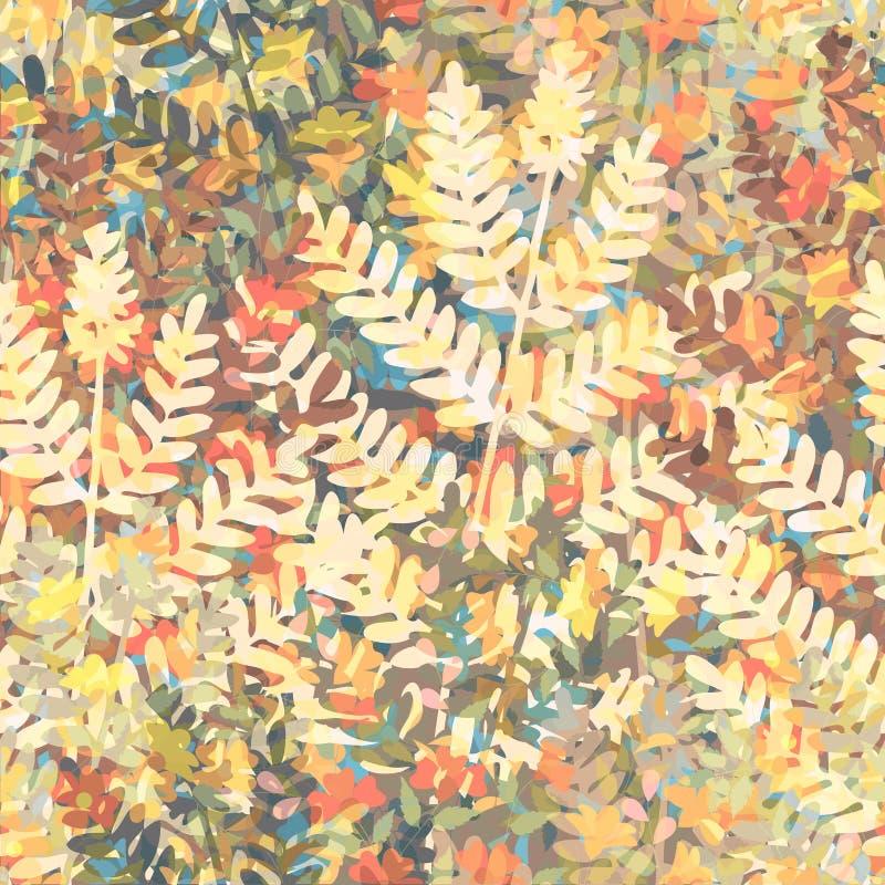 Mattonelle della carta da parati floreale illustrazione di stock