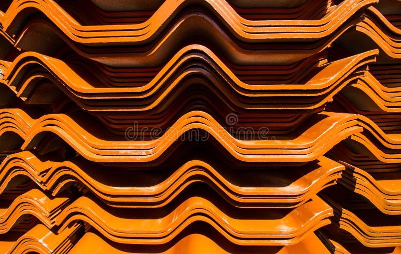 Mattonelle della casa del tetto immagine stock