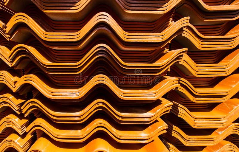 Mattonelle della casa del tetto fotografie stock libere da diritti