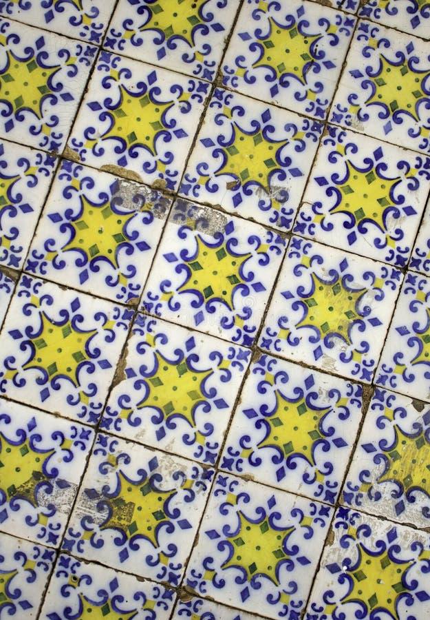 Mattonelle della parete di Lisbona fotografie stock libere da diritti