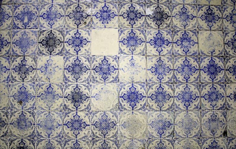 Mattonelle della parete di Lisbona fotografia stock libera da diritti