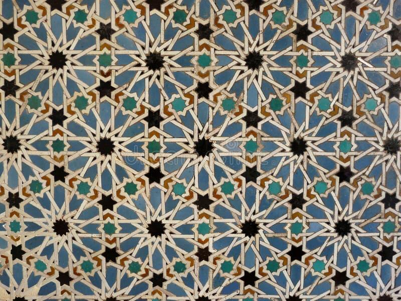 Mattonelle della parete in Spagna fotografia stock