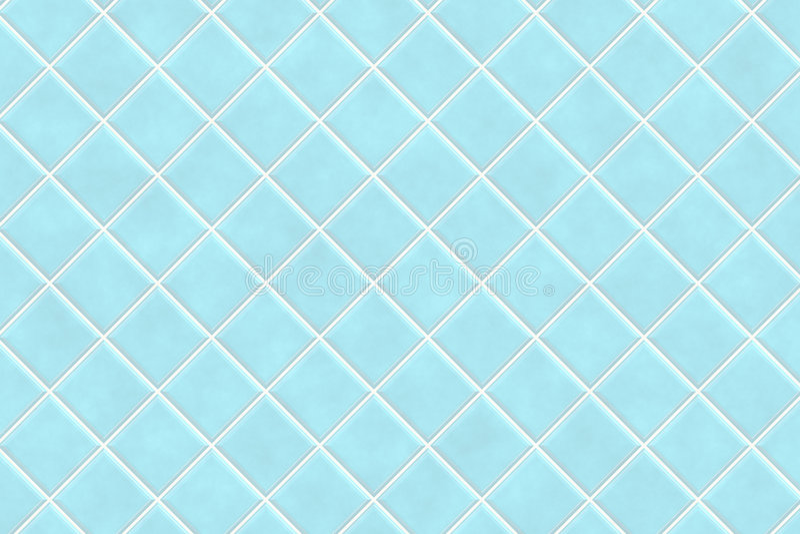 Mattonelle Blu Della Stanza Da Bagno Illustrazione Di