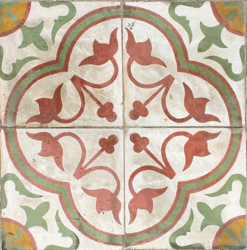 Mattonelle di ceramica dell'annata variopinta. immagine stock libera da diritti