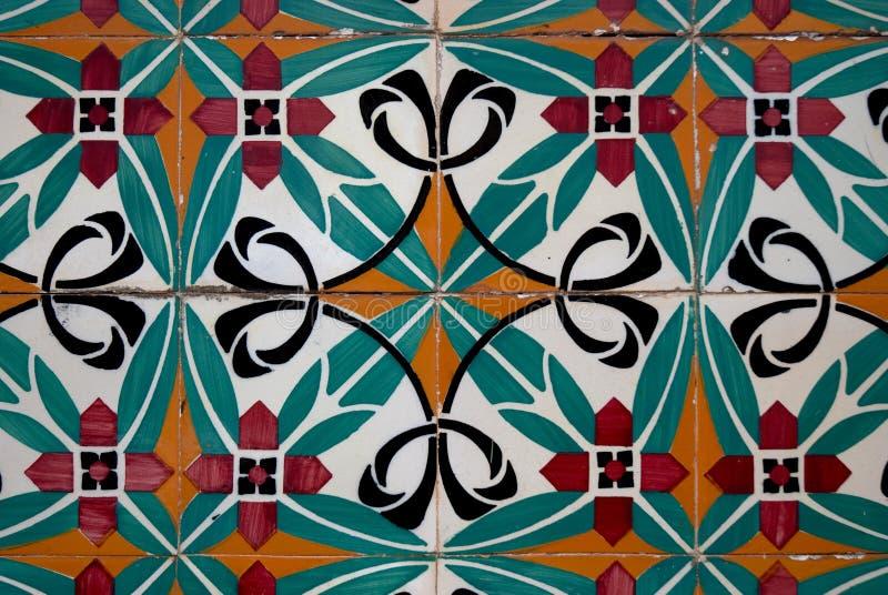 Mattonelle di ceramica di stile spagnolo dell'annata fotografie stock