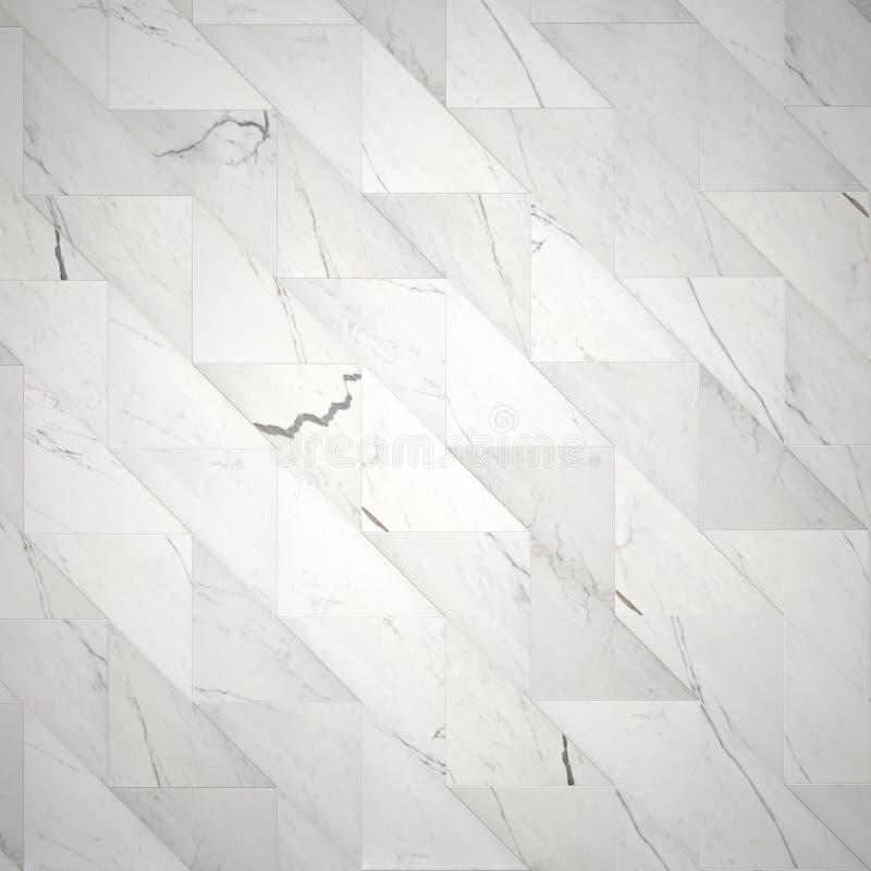 Mattonelle di marmo alla moda come fondo illustrazione di stock
