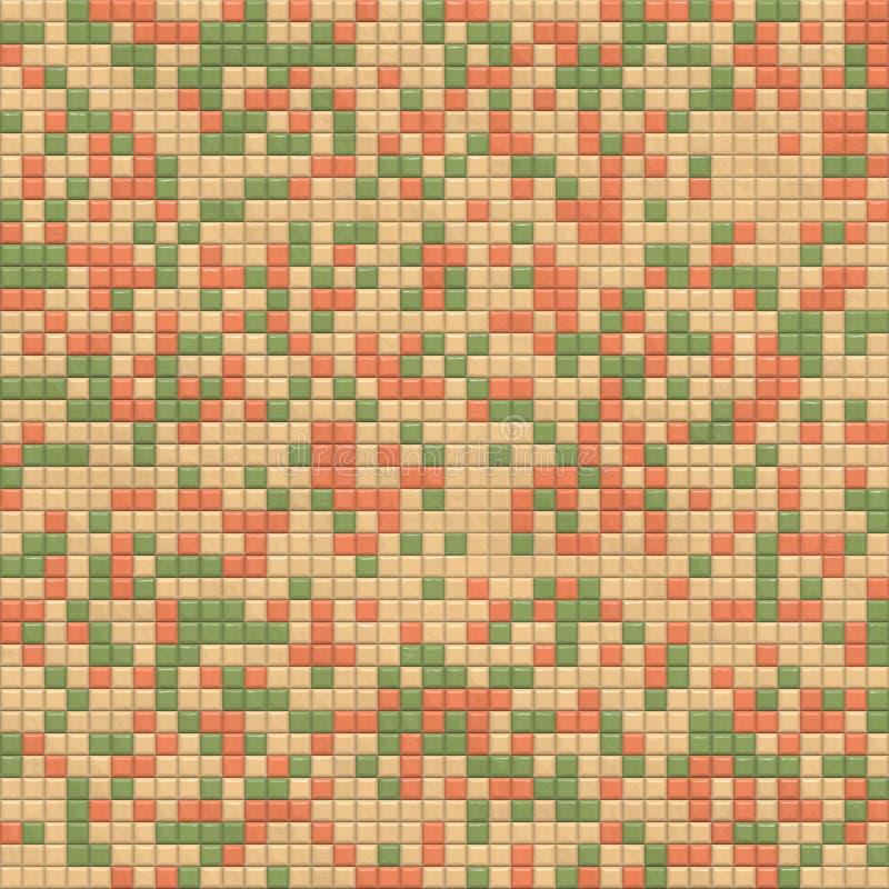 Mattonelle di mosaico. illustrazione di stock