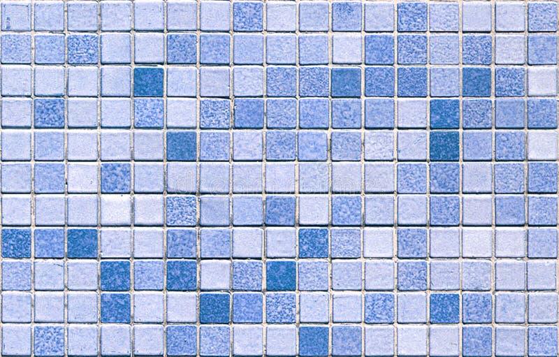 Mattonelle di mosaico blu senza giunte fotografia stock libera da diritti
