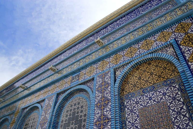 Mattonelle di mosaico. Cupola della roccia fotografia stock libera da diritti