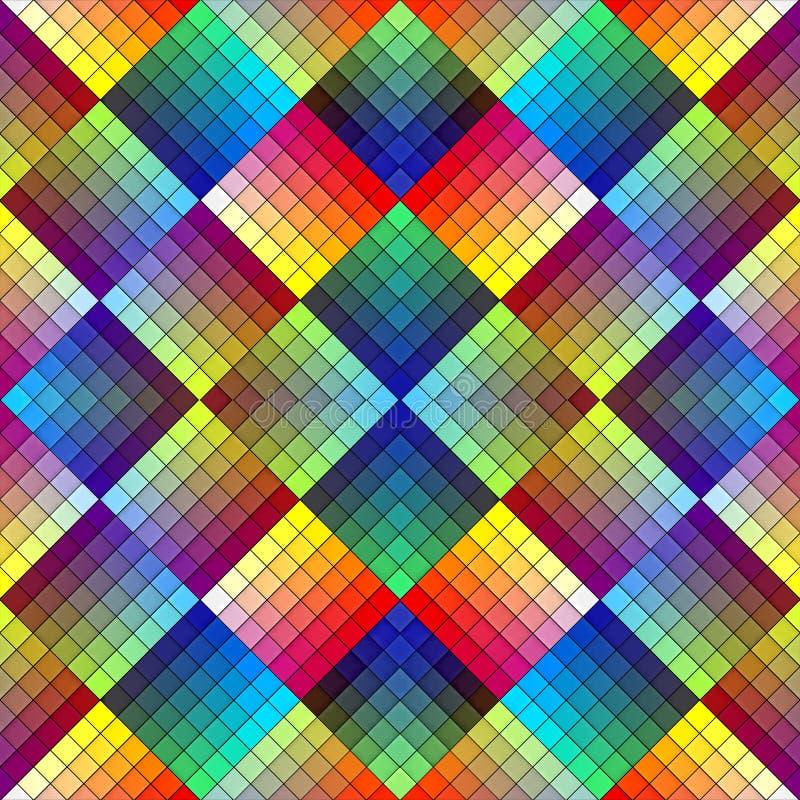 Mattonelle di mosaico di art deco nel retro stile illustrazione di stock