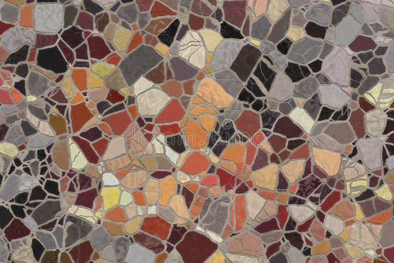 Mattonelle di mosaico rotte. fotografie stock libere da diritti