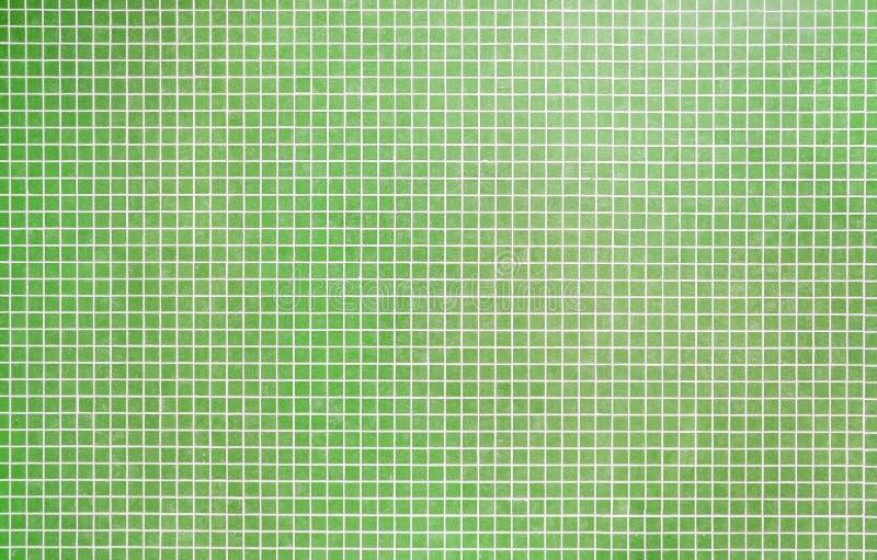 Mattonelle di mosaico verdi immagine stock libera da diritti