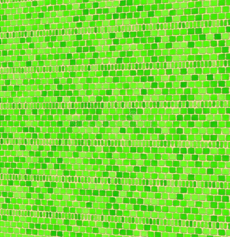 Mattonelle di mosaico verdi illustrazione di stock for Mattonelle mosaico cucina