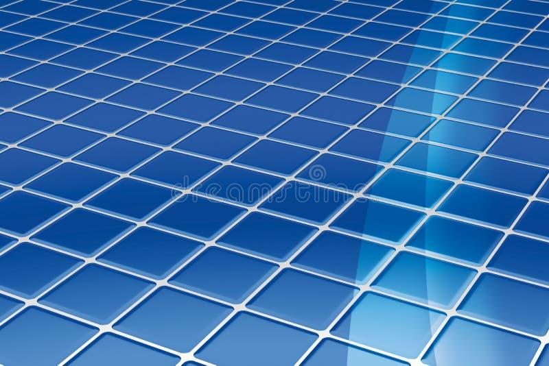 Mattonelle di pavimento blu royalty illustrazione gratis