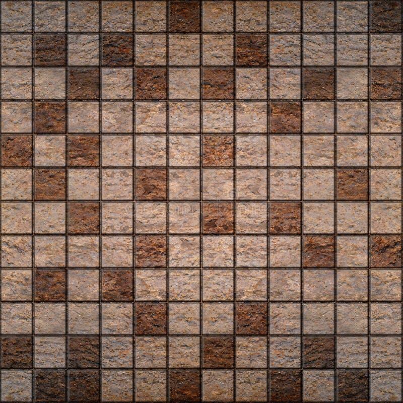 Mattonelle di pietra, impilate per fondo senza cuciture fotografia stock libera da diritti