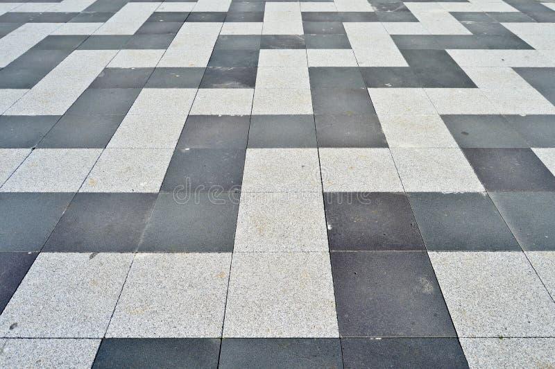 Mattonelle di struttura del granito del pavimento indossate Atrio, lucidato immagine stock libera da diritti
