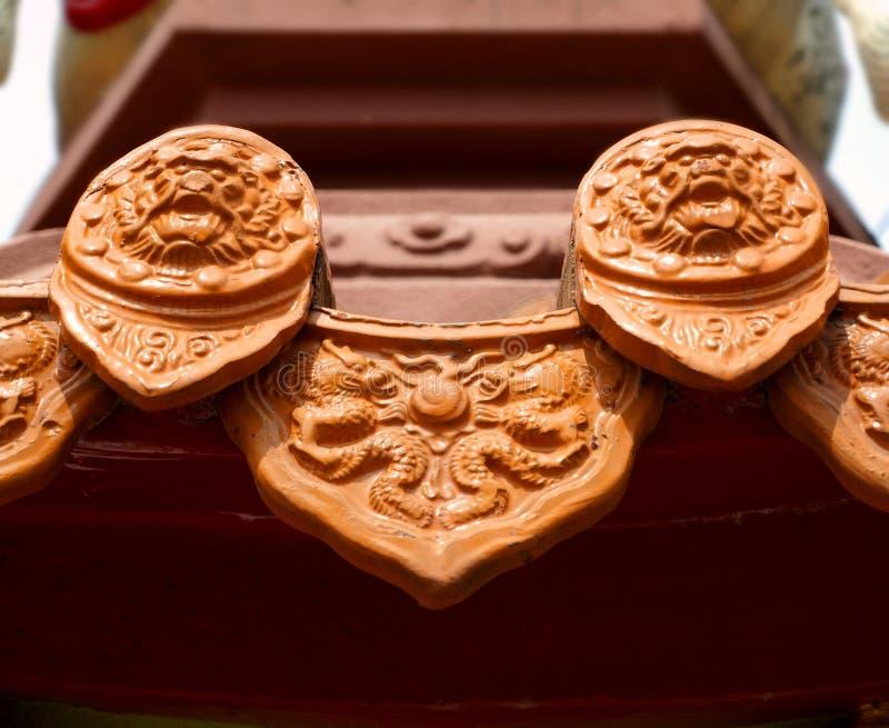 Mattonelle di tetto di ceramica cinesi immagini stock libere da diritti