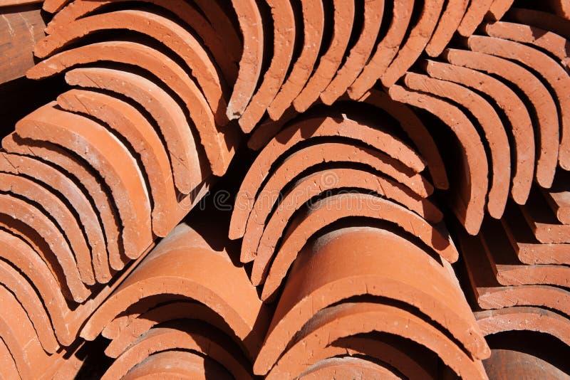 Mattonelle di tetto spagnole fotografia stock libera da diritti