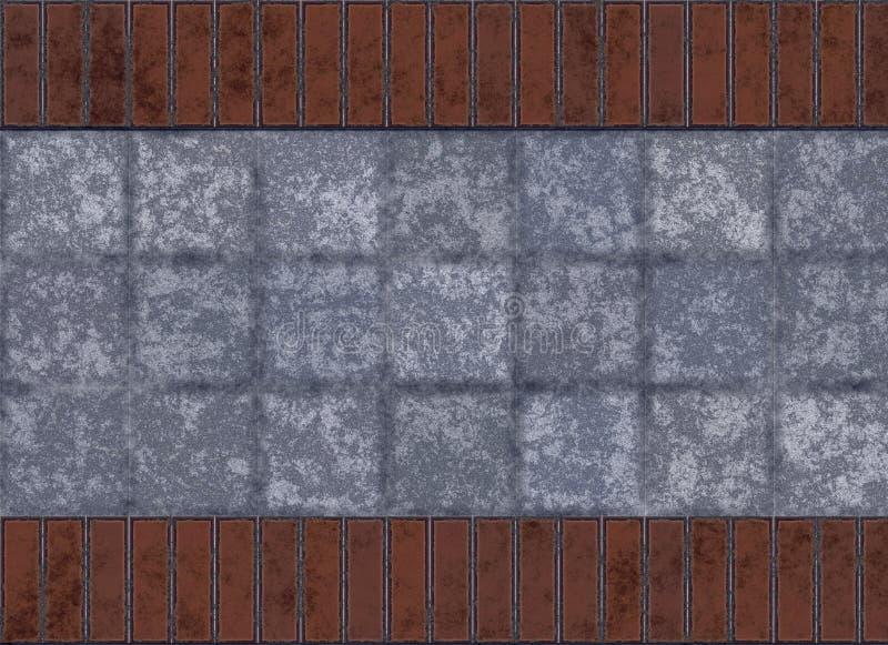 Mattonelle e muro di mattoni illustrazione di stock