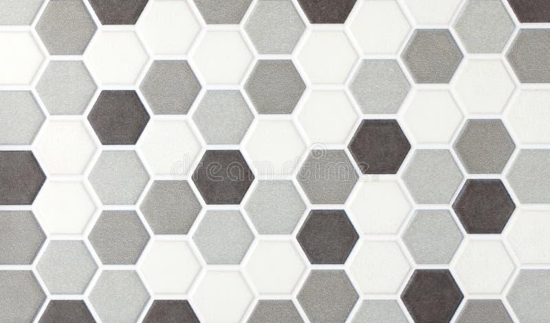 Mattonelle esagonali di marmo del mosaico immagini stock