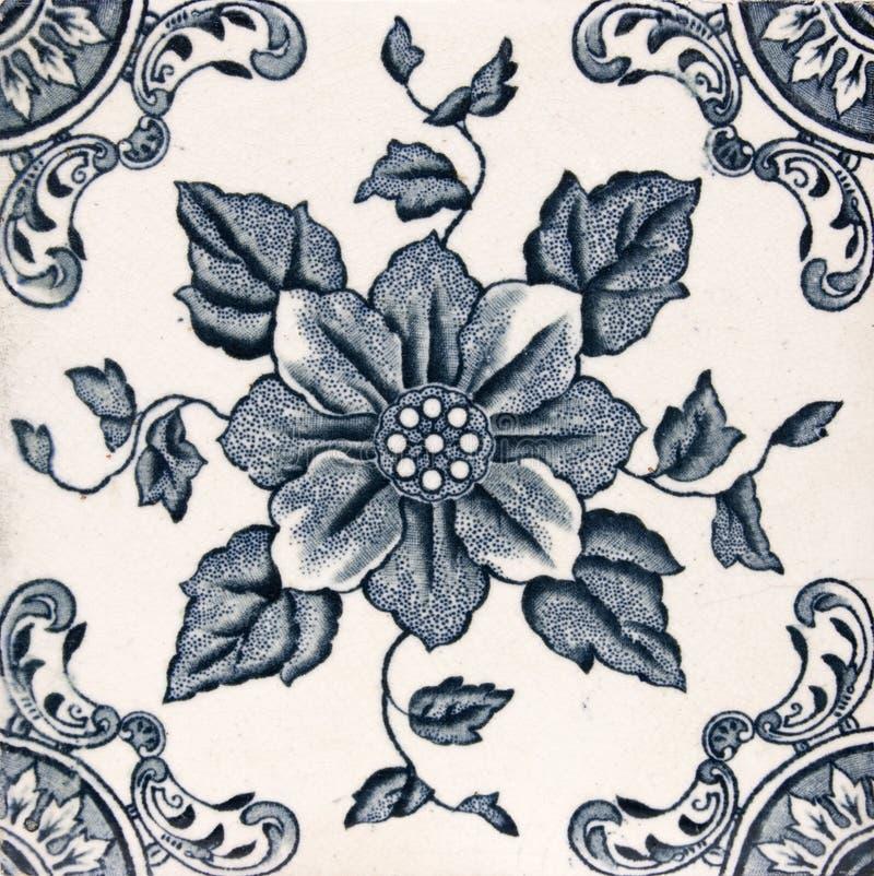 Mattonelle estetiche antiche di disegno fotografia stock