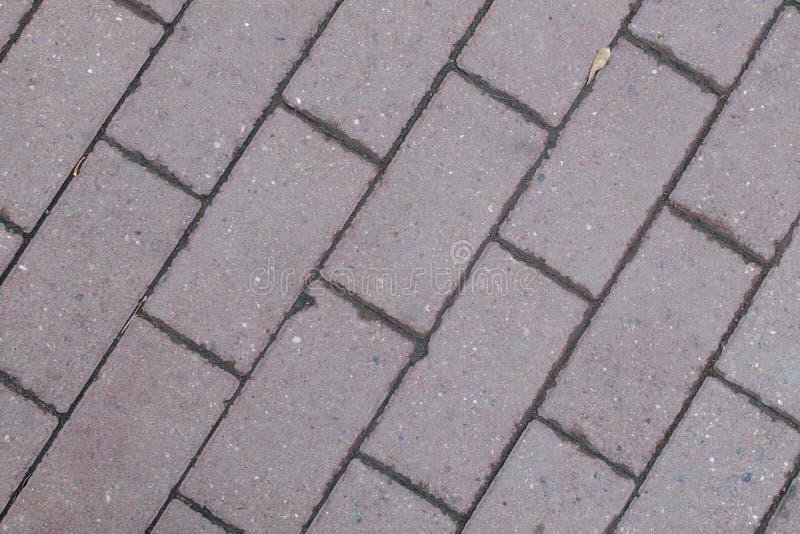 Mattonelle grige rettangolari della pavimentazione individuate diagonalmente fotografia stock