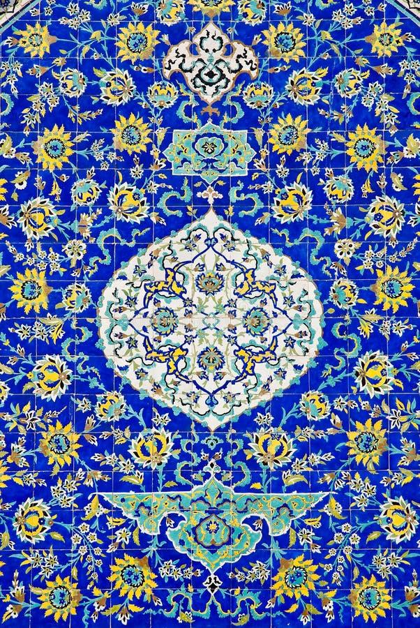 Mattonelle a Ispahan Iran fotografie stock