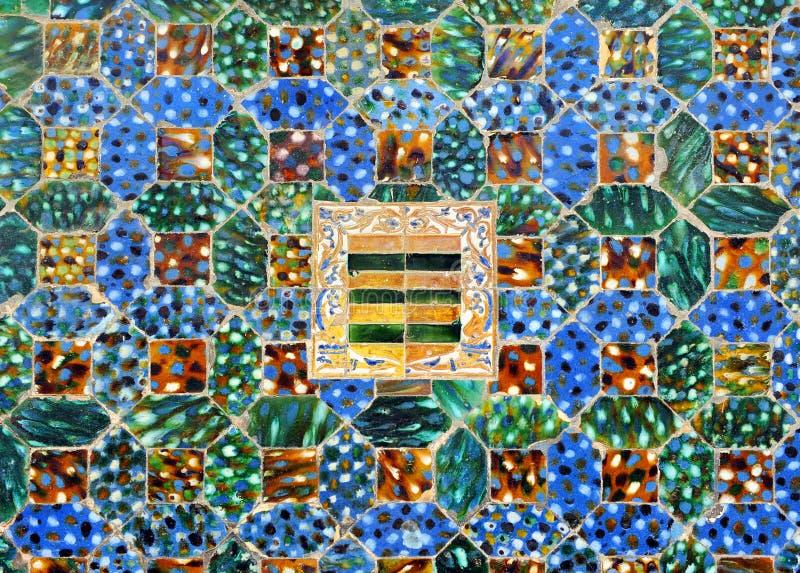 Mattonelle lustrate, azulejos, palazzo di Casa de Pilatos, Siviglia, Spagna fotografia stock