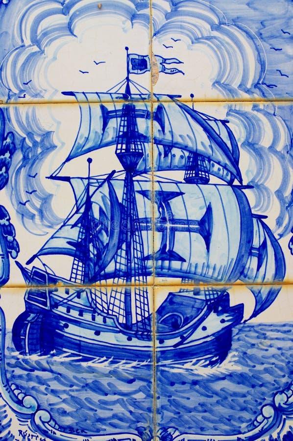 Mattonelle portoghesi decorate tradizionali illustrazione vettoriale