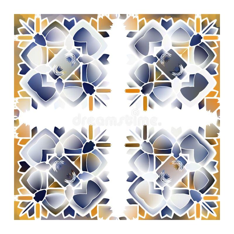Mattonelle portoghesi di azulejo royalty illustrazione gratis