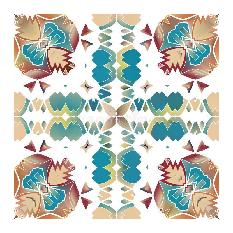 Mattonelle portoghesi di azulejo illustrazione di stock