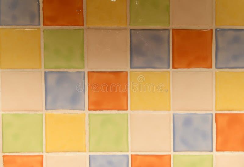 Mattonelle quadrate ceramiche brillanti della cucina for Piastrelle cucina bianche quadrate