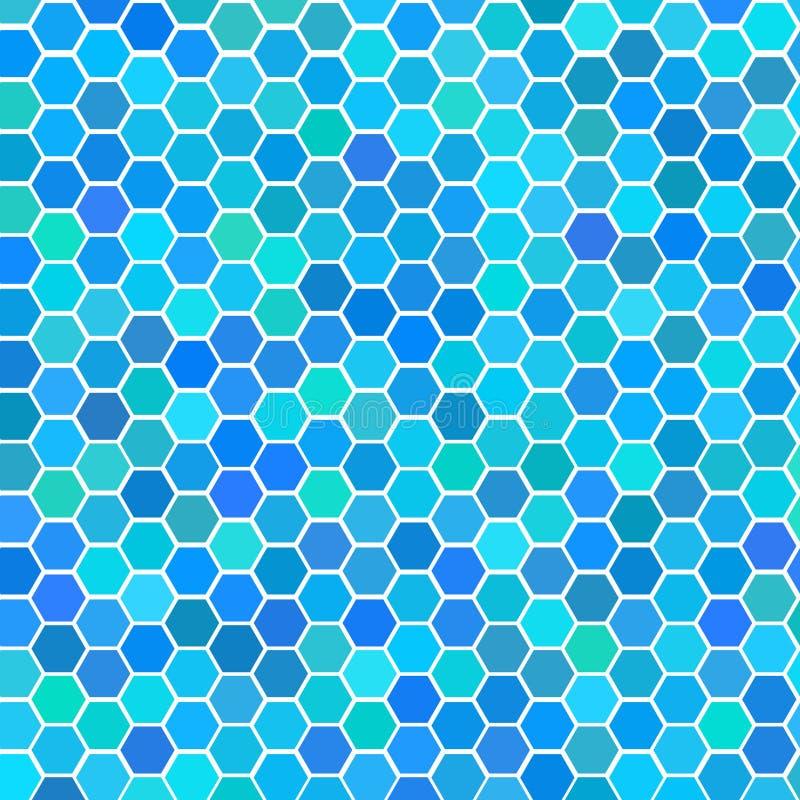 Mattonelle senza giunte blu casuali illustrazione vettoriale